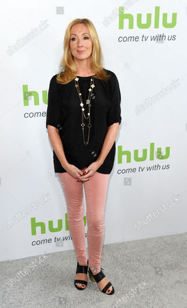 """Jessica Pope, executive producer of """"The Musketeers,"""" poses before the Hulu network's panels during the Television Critics Association 2016 Summer Press Tour at the Beverly Hilton, in Beverly Hills, Calif"""