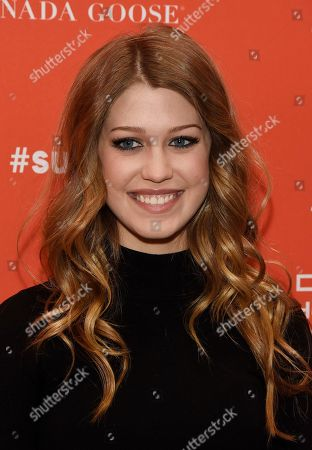"Katie Garfield, a cast member in ""The Birth of a Nation,"" poses at the premiere of the film at the 2016 Sundance Film Festival, in Park City, Utah"