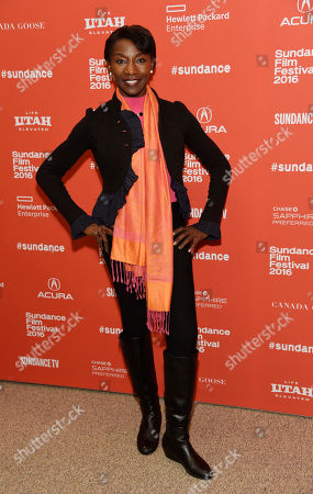 """Stock Image of Jeryl Prescott, a cast member in """"The Birth of a Nation,"""" poses at the premiere of the film at the 2016 Sundance Film Festival, in Park City, Utah"""