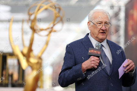 Producer Don Mischer addresses members of the media at the 68th Primetime Emmy Red Carpet Rollout and Governors Ball Reveal on in Los Angeles
