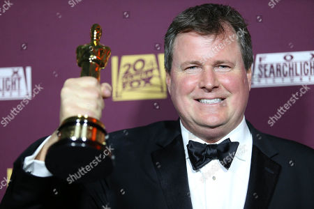 James W. Skotchdopole attends the 87th Academy Awards - 20th Century Fox and Fox Searchlight Oscar Party at BOA Steakhouse on in West Hollywood, Calif