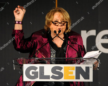 Stock Picture of Linda Bloodworth-Thomason accepts the Lifetime Achievement Award at the 9th Annual Gay, Lesbian & Straight Education Network Respect Awards at The Beverly Hills Hotel on in Beverly Hills, Calif