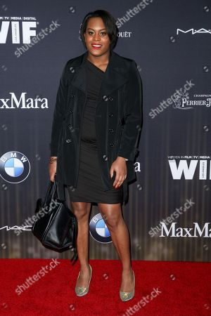 Mya Taylor arrives at the 9th Annual Women in Film Pre-Oscar Cocktail Party at Hyde Sunset Kitchen + Cocktails, in Los Angeles