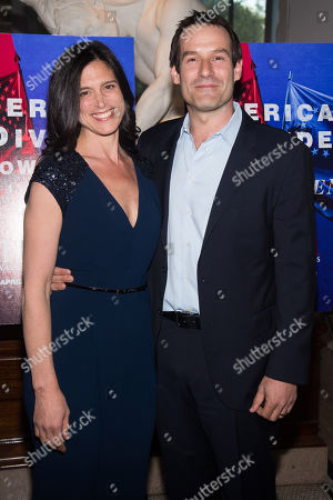 "Stock Photo of Nicole Kahn and Ian Kahn attend AMC's ""Turn: Washington's Spies"" season three premiere event at the New York Historical Society, in New York"
