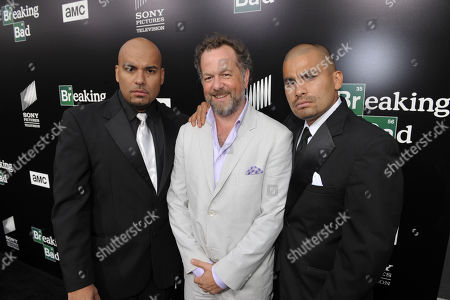 From left, actors Lewis Moncada, David Costabile and Daniel Moncada attend AMC's and Sony Pictures Television's celebration for the final episodes of 'Breaking Bad' on the Sony Lot on in Los Angeles