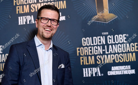 """Klaus Haro, director of the Golden Globe Best Foreign Language Film nominee """"The Fencer"""" of Finland/Germany/Estonia, poses at the Golden Globe Foreign-Language Film Symposium at the Egyptian Theatre, in Los Angeles"""