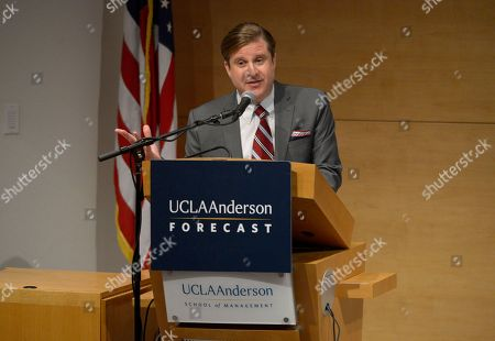 Controller, City of Los Angeles Ron Galperin speaking about the economic challenges in California at UCLA Anderson Forecast, in Los Angeles