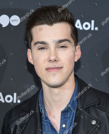 Jeremy Shada attends the AOL NewFront at the South Street Seaport, in New York