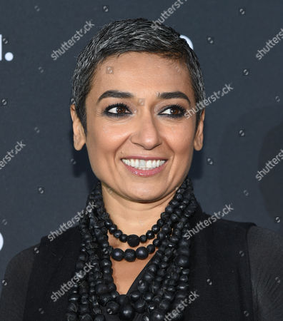 Humanitarian Zainab Salbi attends the AOL NewFront at the South Street Seaport, in New York