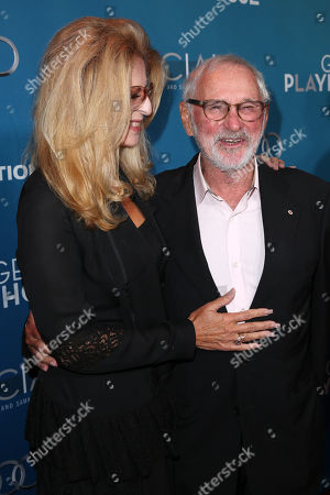 Lynne St. David, left, and Norman Jewison arrive at Backstage At The Geffen Gala, in Los Angeles