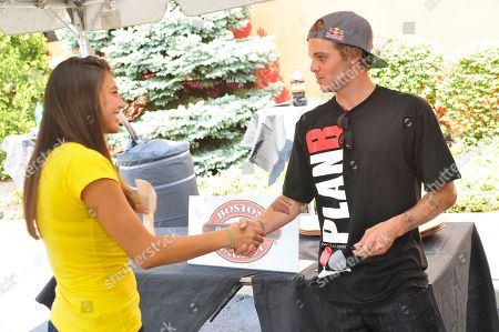 Pro skateboarder Ryan Sheckler meets with fans at Boston Market during an event benefiting The Sheckler Foundation on in North Arlington, N.J