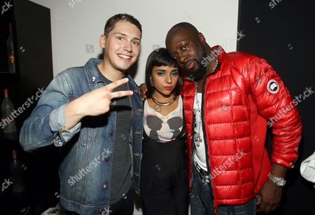 Cris Cab, Jarina De Marco and Wyclef Jean are seen at the Boy Meets Girl Spring 2013 Fashion Show, on in New York