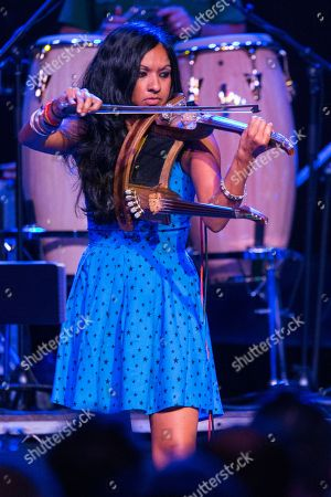Stock Photo of Gingger Shankar performs on stage during Brian Fest: A Night To Celebrate The Music Of Brian Wilson at the Fonda Theatre, in Los Angeles