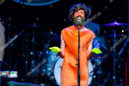 Devendra Banhart performs on stage during Brian Fest: A Night To Celebrate The Music Of Brian Wilson at the Fonda Theatre, in Los Angeles