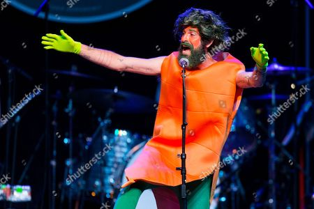 "Devendra Banhart performs onstage during ""Brian Fest: A Night To Celebrate The Music Of Brian Wilson,"" at the Fonda Theatre, in Los Angeles"