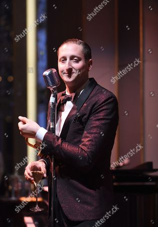 Stock Picture of Jazz musician Brian Newman performs at the Rainbow Room on in New York