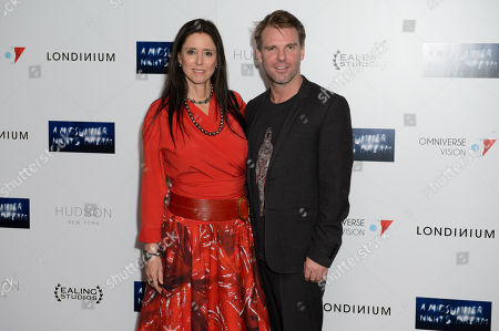 Stock Picture of Juile Taymor and Ben Latham-Jones pose for photographers at the UK Premiere of A Midsummer Nights Dream at a central London cinema