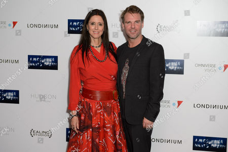 Juile Taymor and Ben Latham-Jones pose for photographers at the UK Premiere of A Midsummer Nights Dream at a central London cinema