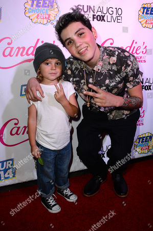 Levi Pottorff and Sam Pottorff attend the official pre-party for Teen Choice 2014 presented by Candie's on in Beverly Hills