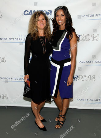 Edie Lutnick, left, and Padma Lakshmi, right, attend Cantor Fitzgerald and BGC Partners' 10th Annual Charity Day on in New York