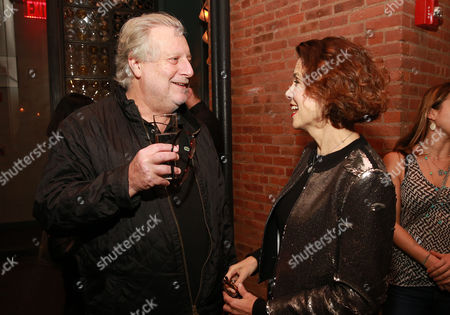 "Chef Jonathan Waxman and editor-in-chief of FOOD & WINE Dana Cowin seen at CHEFS CLUB BY FOOD & WINE opening party and celebration of Dana Cowin's new book ""Mastering My Mistakes in the Kitchen,"" at CHEFS CLUB BY FOOD & WINE on in New York"