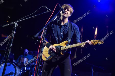 Benjamin Gibbard of rock group Death Cab for Cutie performs at Madison Square Garden, in New York