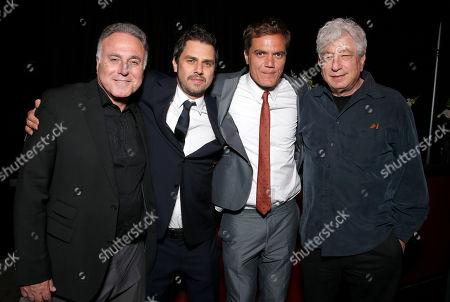 Producer Ehud Bleiberg, director Ariel Vromen, Michael Shannon and executive producer Avi Lerner attend the DeLeon Tequila special screening of The Iceman After Party on in Los Angeles