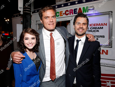 Megan Sherrill, Michael Shannon and director Ariel Vromen attend the DeLeon Tequila special screening of The Iceman After Party on in Los Angeles