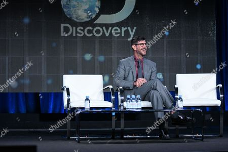 Rich Ross speaks on stage at Discovery Communications 2015 Winter TCA, in Pasadena, Calif