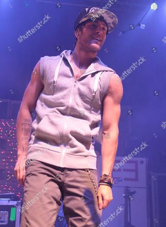 Drew Chadwick of the pop rock band Emblem3 performs in concert during the group's Band Life Tour at the Fillmore, in Silver Spring, Md