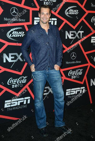 """Stock Photo of Cleveland Browns tight end Dan Gronkowski arrives at ESPN The Magazine's """"Next"""" Event on in New Orleans"""