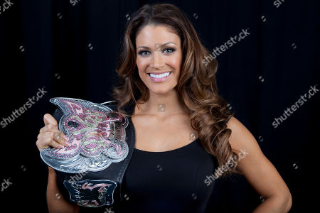Stock Image of American dancer, model, professional wrestler, valet and actress Eve Torres poses for a portrait, on in New York