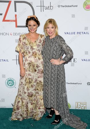 "Model Josie Maran, left, and Debbie Levin, President of the Environmental Media Association of Hollywood, attend the Fifth Annual Fashion 4 Development ""First Ladies Luncheon"" at The Pierre Hotel, in New York"