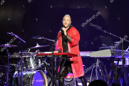 Ferras Alqaisi as Ferras performing as part of The Prismatic World Tour at Philips Arena, in Atlanta