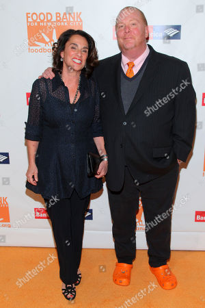 Susi Cahn, left, and Mario Batali, right, attend the Food Bank For New York City Can-Do Awards Dinner at Cipriani Wall Street, in New York