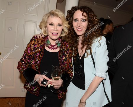 """Stylist Jen Rade, right, and comedian Joan Rivers at the """"Glamorous By George"""" book launch hosted by Joan and Melissa Rivers on in Los Angeles"""