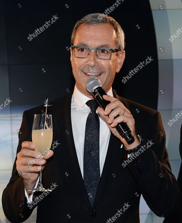 Stock Picture of Grey Goose Maitre de Chai, Francois Thibault attends the Grey Goose Vodka and Virgin Galactic global partnership announcement event at the Rose Center for Earth & Space, in New York