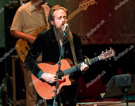 Stock Image of Samuel Beam as Iron & Wine performs at The Tabernacle, in Atlanta