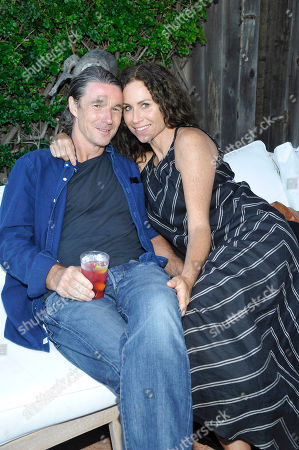 Neville Wakefield and Minnie Driver seen at the JustFab Beach House powered by Kia Motors, in Malibu, CA