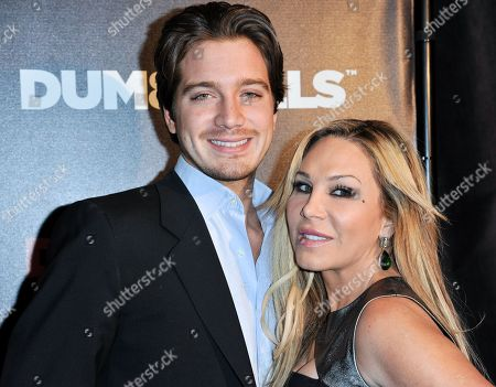 Jacob Busch, left, and Adrienne Maloof arrive at the LA Premiere of 'Dumbbells' at Supperclub on in Los Angeles