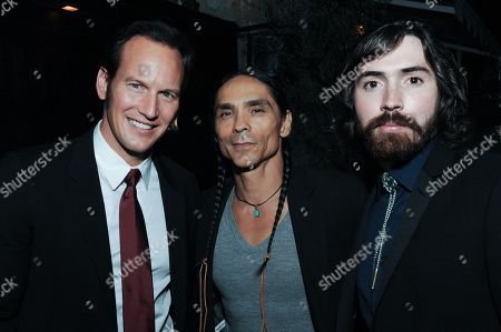 """Actors Patrick Wilson, from left, Noah McClarnon and Allan Dobrescu attend the after-party for the LA Premiere of """"Fargo"""" Season two, in Los Angeles"""