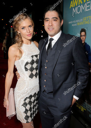 Stock Photo of Producer Justin Nappi (right) and guest attend the Los Angeles Premiere of 'That Awkward Moment' Premiere, on Monday, January, 27, 2014 in Los Angeles