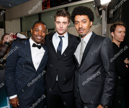 "Stephen Rider, Max Irons and Shawn Carter Peterson arrive at the LA premiere of ""The Host"" at the ArcLight Hollywood on in Los Angeles"