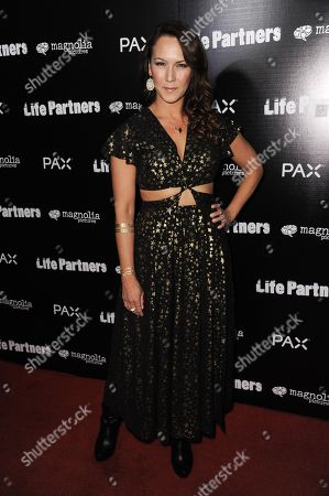 """Simone Bailly arrives at the LA Special Screening of """"Life Partners"""", in Los Angeles"""