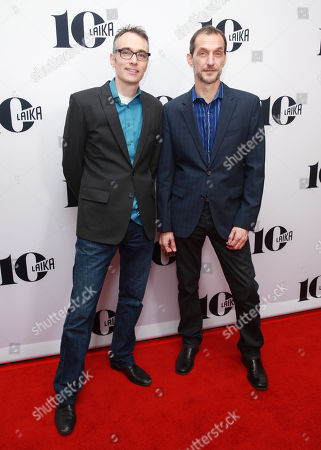 Stock Picture of Graham Annable and Anthony Stacchi seen at the LAIKA 10th Anniversary Party at The London Hotel, in West Hollywood, Calif