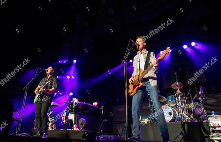 Ed Robertson, Jim Creeggan, Tyler Stewart and Kevin Hearn with Barenaked Ladies performs during the Last Summer on Earth Tour 2015 at Verizon Wireless Amphitheatre, in Atlanta