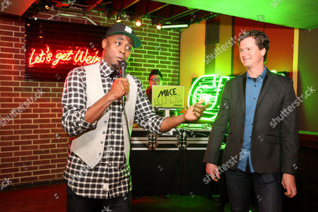 Stock Picture of Wayne Brady and Jonathan Mangum seen at Let's Get Weird: A BuzzFeed Event sponsored by The CW at South by Southwest, on in Austin, Texas