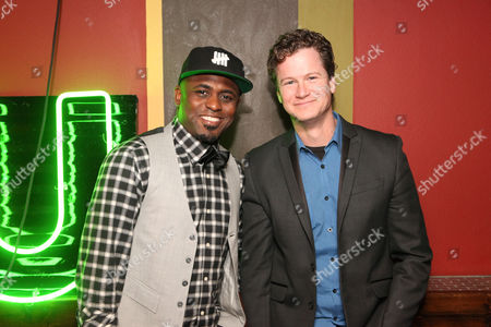 Wayne Brady and Jonathan Mangum seen at Let's Get Weird: A BuzzFeed Event sponsored by The CW at South by Southwest, on in Austin, Texas