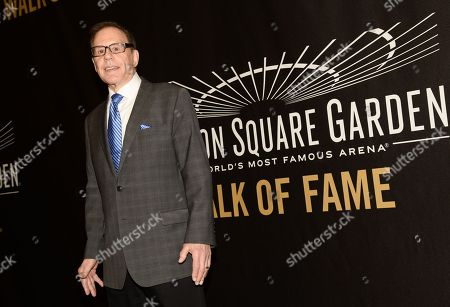 Photographer George Kalinsky is honored at the Madison Square Garden 2015 Walk of Fame Induction ceremony, in New York