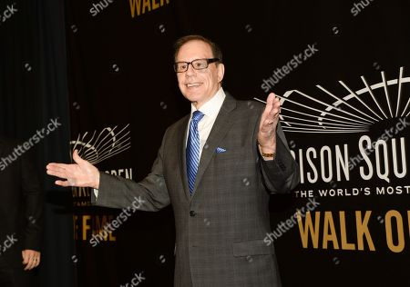 Stock Picture of Photographer George Kalinsky is honored at the Madison Square Garden 2015 Walk of Fame Induction ceremony, in New York